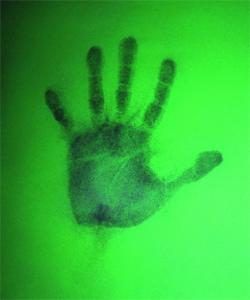 Turn-off handprint