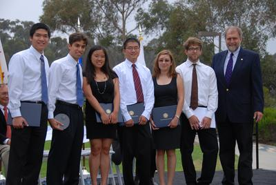 2008 undergrad award winners at ring ceremony