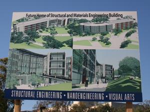 Building dedicaiton sign