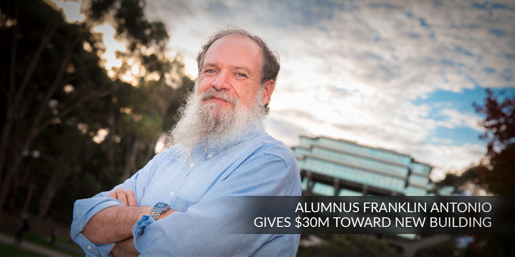 Franklin Antonio, UC San Diego alumnus and Qualcomm co-founder, gives $30M toward new campus engineering building