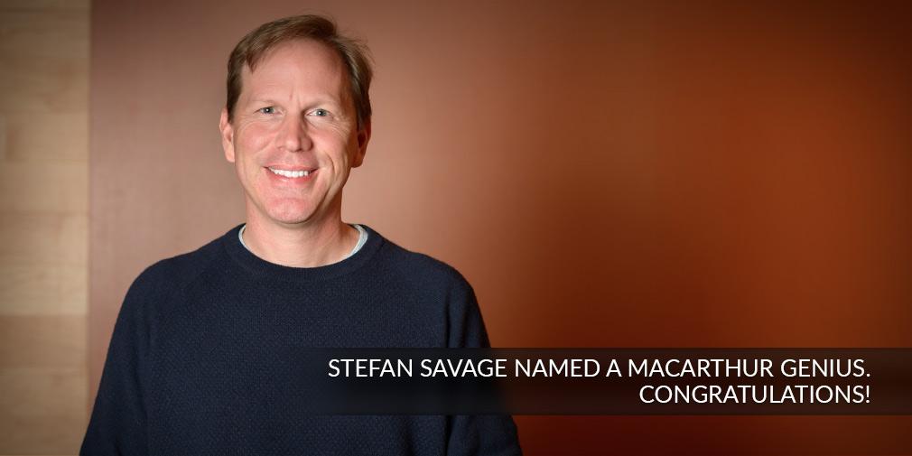 UC San Diego Cybersecurity expert Stefan Savage receives prestigious MacArthur Foundation fellowship