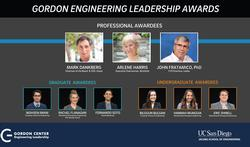 Gordon Center Celebrates 10 years, honors Engineering Leadership Award recipients