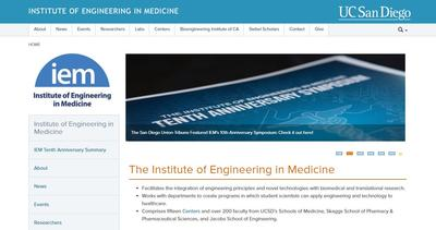 UC San Diego Institute of Engineering in Medicine