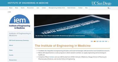 UC San Diego Institute of Engineering in Medicine