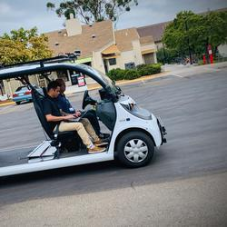 Self-Driving Mail Delivery Begins on Campus